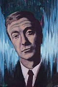 Illustrative Mixed Media Framed Prints - Michael Caine Framed Print by James Flynn