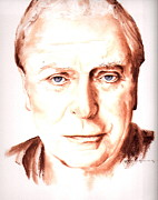 Michael  Caine Paintings - Michael Caine by Karl Opanowicz