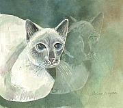 Siamese Paintings - Michael Campbell Reflects by Arline Wagner