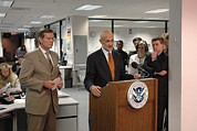 Floods Photos - Michael Chertoff Secretary Of Homeland by Everett