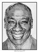 Michael Drawings Posters - Michael Clarke Duncan in 2009 Poster by J McCombie