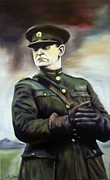 Commander In Chief Painting Posters - Michael Collins Poster by Gary Boyle
