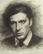 Michael Corleone Framed Prints - Michael Corleone Framed Print by Cynthia Campbell