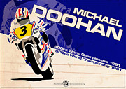 Evan DeCiren Art - Michael Doohan - 500cc 1991 by Evan DeCiren
