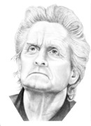 People Drawings Originals - Michael Douglas by Murphy Elliott