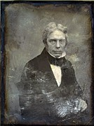 Michael Photo Posters - Michael Faraday 1791-1867 English Poster by Everett