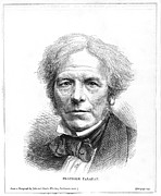British Portraits Prints - Michael Faraday, British Physicist Print by Science Industry & Business Librarynew York Public Library