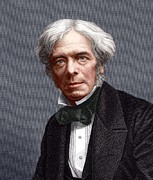 British Portraits Prints - Michael Faraday, English Chemist Print by Sheila Terry