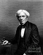 Michael Photo Framed Prints - Michael Faraday, English Physicist Framed Print by Photo Researchers