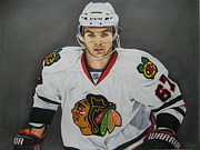 Hockey Playoffs Prints - Michael Frolik  Print by Brian Schuster