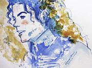 Mj Painting Posters - Michael Jackson - Bless you Poster by Hitomi Osanai
