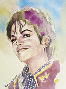 Mj Painting Prints - Michael Jackson - Mike Print by Hitomi Osanai
