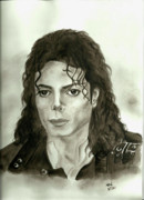 Mj Painting Prints - Michael Jackson - My Dreams My Life Print by Nicole Wang
