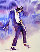 Michael Jackson - Not My Lover Print by Hitomi Osanai