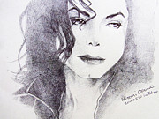 Michael Drawings Framed Prints - Michael Jackson - Nothing compared to you Framed Print by Hitomi Osanai