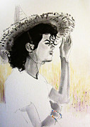 Michael Drawings Framed Prints - Michael Jackson - One Day in Your Life Framed Print by Hitomi Osanai