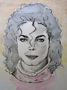 Michael Drawings Framed Prints - Michael Jackson - Planet Michael Framed Print by Hitomi Osanai