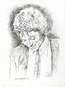 Music Legend Drawings - Michael Jackson - Remember the Time by David Lloyd Glover