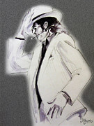 Michael Drawings Posters - Michael Jackson - Smooth Criminal in TII Poster by Hitomi Osanai