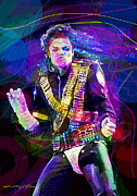 Michael Jackson Metal Prints - Michael Jackson 93 Moves Metal Print by David Lloyd Glover