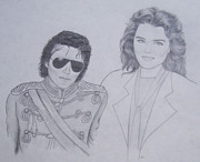 Michael Drawings Framed Prints - Michael Jackson  Framed Print by Amanda Li