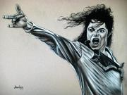 Jackson Drawings Prints - Michael Jackson Print by Anastasis  Anastasi