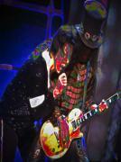 Michael Jackson And Slash Print by Byron Fli Walker