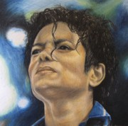 Michael Drawings Posters - Michael Jackson Poster by Angela Hannah