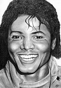 1980s Drawings - Michael Jackson Beat It by Becky Ellis