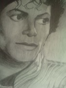 Michael Drawings Framed Prints - Michael Jackson Framed Print by Charlie Rayment