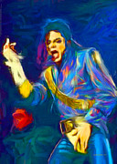 Jackson 5 Digital Art - Michael Jackson by Dwayne  Graham