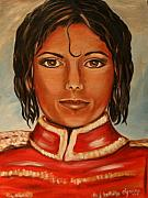 Michael Jackson Portrait Painting Originals - Michael Jackson by Dyanne Parker