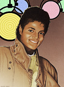 Michael Jackson Mixed Media Prints - Michael Jackson Print by Erasmo Hernandez
