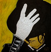 Glitter Paintings - Michael Jackson by Estelle BRETON-MAYA