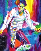 Mj Paintings - Michael Jackson Fire  by David Lloyd Glover