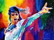 King Of Pop Painting Prints - Michael Jackson Force Print by David Lloyd Glover