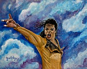 Mj Posters - Michael Jackson Poster by Paintings by Gretzky