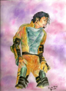 Mj Painting Prints - Michael Jackson HIStory Tour Print by Nicole Wang