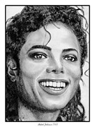 Dancer Art Drawings Posters - Michael Jackson in 1988 Poster by J McCombie