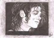 Icon  Drawings - Michael Jackson by Kristina Nabieva