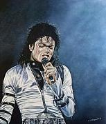 Michael Jackson Metal Prints - Michael Jackson Live Metal Print by Mark Baker