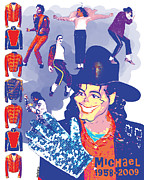 Mark Armstrong Framed Prints - Michael Jackson Framed Print by Mark Armstrong