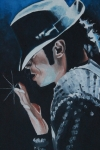 Celebrity Paintings - Michael Jackson by Mikayla Henderson