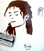 Tape Mixed Media - Michael Jackson by Mike Grubb