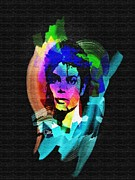 Thriller Digital Art Prints - Michael Jackson Print by Mo T