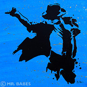 Thriller Painting Originals - Michael Jackson by Mr Babes