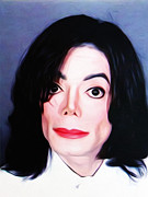 Michael Digital Art - Michael Jackson Mugshot by Bill Cannon