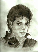 Mj Painting Prints - Michael Jackson Print by Nicole Wang