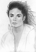 Michael Drawings Framed Prints - Michael Jackson Framed Print by Pat Moore