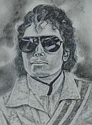 Icon  Drawings - Michael Jackson by Sandra Valentini